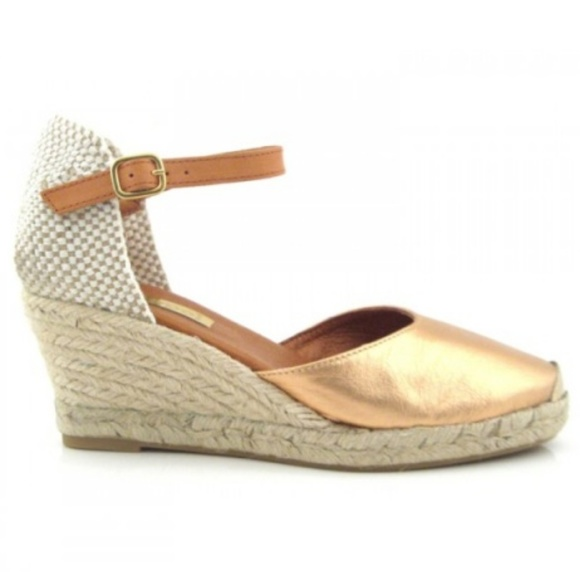 61c16e5940853 Anthropologie Shoes - {anthropologie} Maypol wedge espadrilles bronze 39